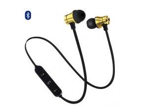 EarMax Wireless Chrome - Zlaté bluetooth slúchadlá s mikrofónom