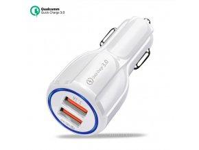 Luxria Quick Charge 3.0 - Biely USB adaptér do auto s dvomi vstupmi 1