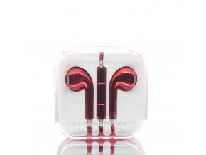 EarMax Chrome Red - Červené slúchadlá s mikrofónom a ovládaním hlasitosti