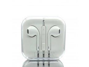 EarMax Chrome White - Biele slúchadlá s mikrofónom a ovládaním hlasitosti