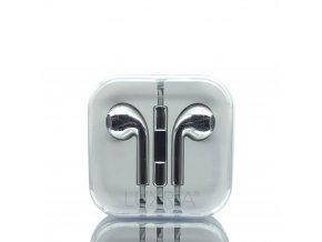 EarMax Chrome Silver - Strieborné slúchadlá s mikrofónom a ovládaním hlasitosti