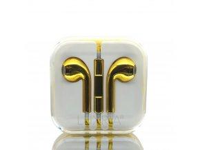 EarMax Chrome Gold - Zlaté slúchadlá s mikrofónom a ovládaním hlasitosti