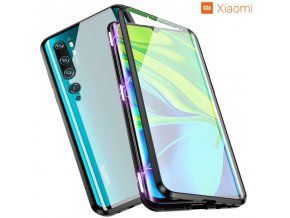 Magneticky dvojdielny kovovo skleneny obal Luxria Double Glass pre Xiaomi Cierny