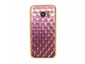 Luxria Ružová mriežka Samsung Obal 1