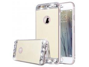 Diamantové Zrkadlo Zlaté iPhone obal Luxria 1 + Darček 03698222ed8