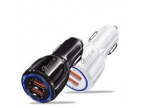 Luxria Auto Adapter Duo ( 2x USB, QC 3.0, 18W ) biely a cierny