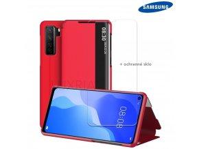 Púzdro Luxria SmartCase pre Samsung - Červené  + Darček ochranné sklo na displej
