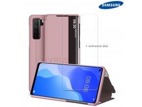 Púzdro Luxria SmartCase pre Samsung Galaxy ruzove