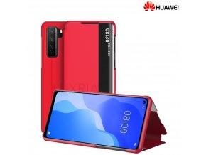 Púzdro Luxria SmartCase pre Huawei - Červené  + Darček ochranné sklo na displej
