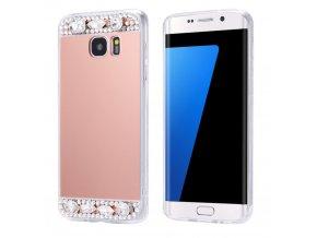 Diamantové Zrkadlo Ružové Samsung obal Luxria 1