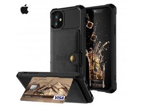 Luxria Wallet Case pre iPhone Čierne kožené púzdro pre karty a bankovky 1 copy
