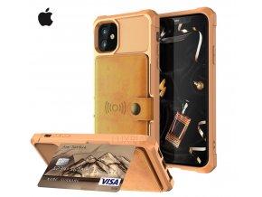 Luxria Wallet Case pre iPhone Hnedé kožené púzdro pre karty a bankovky 7 copy