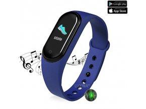 luxria musicwatch m5 modry inteligenty naramok s reproduktorom
