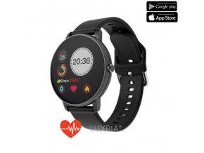 Luxria SmartWatch P8 - Čierne inteligentné hodinky (celokovové)  Silikónový remienok
