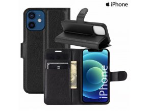 luxria wallet book iphone otvaracie puzdro s priehradkami cierne