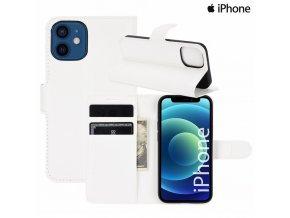 Luxria Wallet Book iPhone Otváracie púzdro s priehradkami BIELE