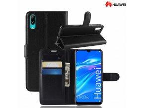 Luxria Wallet Book Huawei - Otváracie púzdro s priehradkami čierne