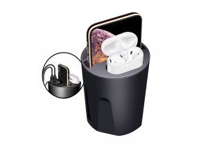 luxria car cup charger nabijacia stanica do auta pre tri zariadenia a airpods