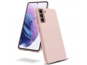 Púzdro Luxria Premium pre Samsung - Ružové (Liquid Silicone & Soft Touch)