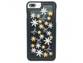 Elegant Flowers - Ručne vyšívaný kryt pre iPhone + darček tvrdené sklo 12028e8c975