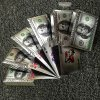 Poker Hracie karty strieborné 100 Dollar (6)