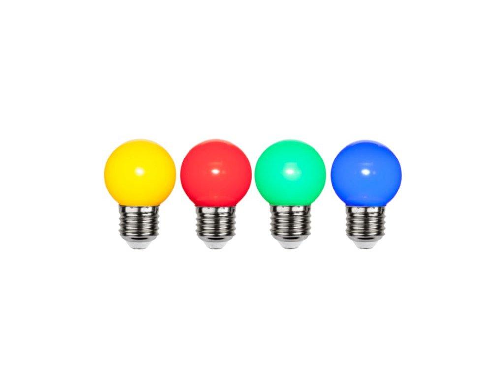 Nerozbitné žiarovky farebné