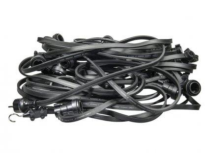 Žiarovková reťaz 50m čierny kábel