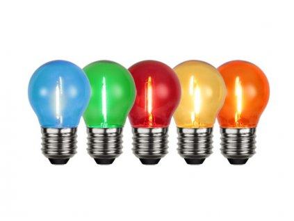 Farebné LED žiarovky E27