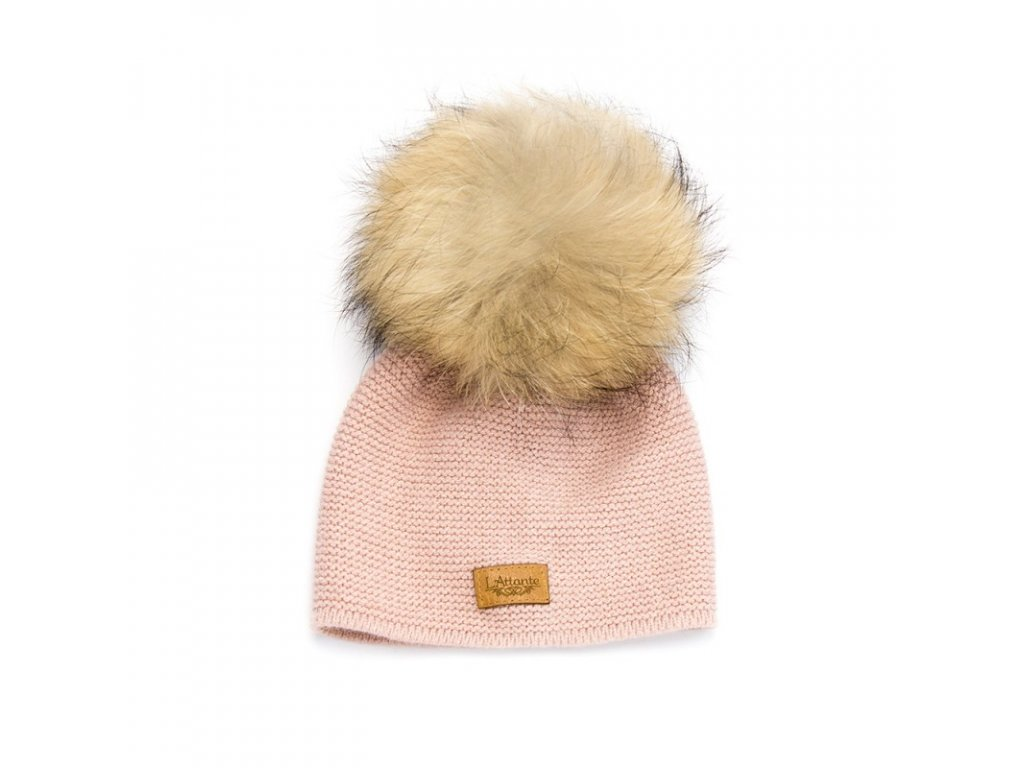 c8c7160da Lattante jarná čiapka pravá kožušina bledo ružová spring cap nature fur  powder pink
