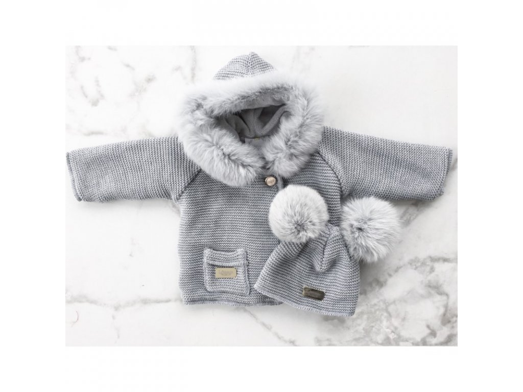 45fd7928de45 Lattante sveter šedá pravá kožušina šedá sweater nature fur grey