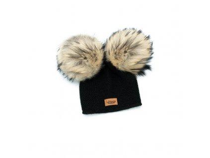 878d2fa21 Lattante alpaca ciapka cap cierna black natural fur prava kozusina