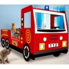 4128 2 detska postel hasicske auto