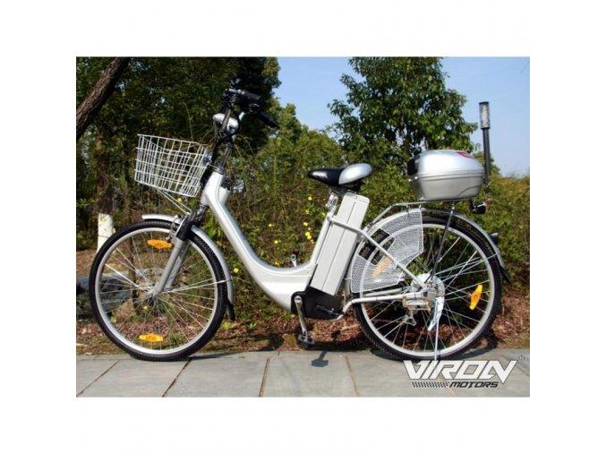 Elektrické kolo - City Bike 250W / 36V (Barva Černá)