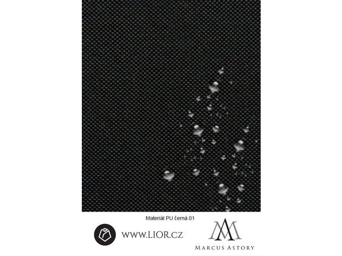 EXAM 600D černá látka 580 (Látka 1 bm)