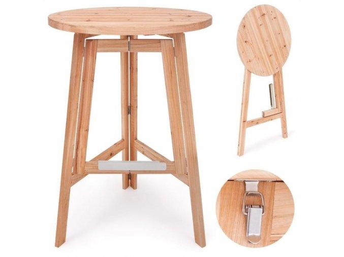 6009 3 barovy stolek z masivniho dreva