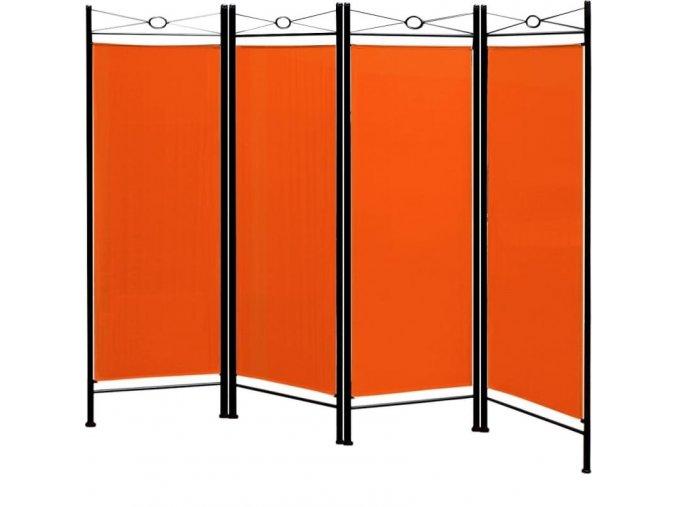 4155 paravan v oranzove barve 180 163 cm