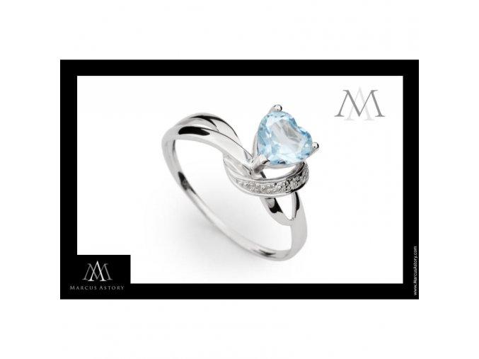 Prsten Marcus Astory MA32 ze 14K bílého zlata s diamanty Fotografie (Velikost prstenu 50)
