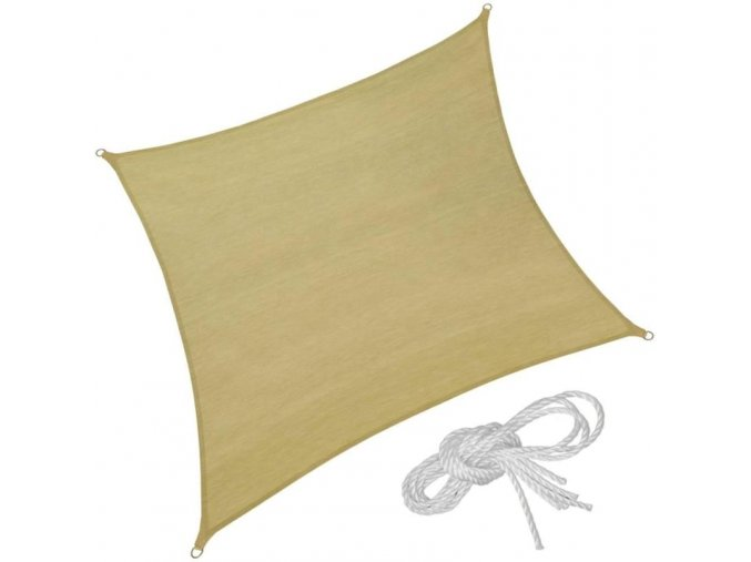 Stínící plachta proti slunci čtverec (Velikost 300x300 cm)