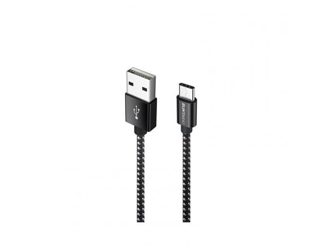 Datový a nabíjecí kabel USB-C černobílý (Délka 1 m)