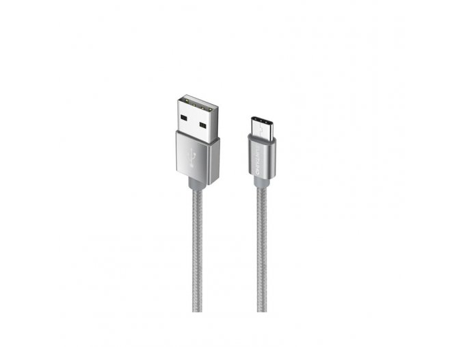 Datový a nabíjecí kabel USB-C šedý (Délka 1 m)