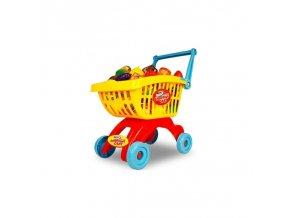 4821 1 detsky nakupni barevny vozik s prislusenstvim 32 ks