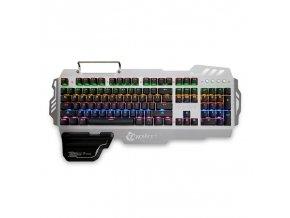 Ergonomická herní klávesnice s podsvícením PK-900 (Barva Ružová)