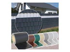 Fólie na plot jednobarevná (Barva Antracit)