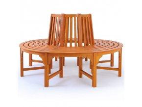 2882 kruhova sedaci lavicka z eukalyptoveho dreva