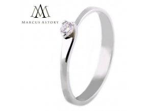 Luxusní zásnubní 14K zlatý prsten s Diamantem MA200 (Velikost prstenu 53)