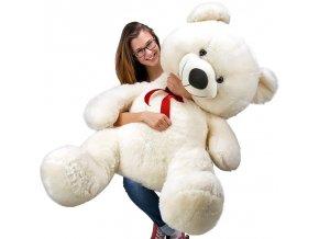 803 1 plysovy medved 100 cm bily plysak