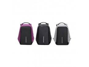 Bezpečnostní batoh s USB vstupem (Barva Černá)