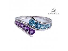 Prsten Marcus Astory MA01 ze 14K bílého zlata s diamanty (Velikost prstenu 56)