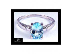 Prsten Marcus Astory MA05 - 14k bílé zlato a diamanty (Velikost prstenu 52)