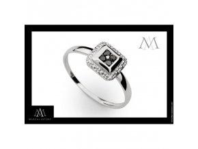 Prsten Marcus Astory MA31 z bílého zlata (Velikost prstenu 50)